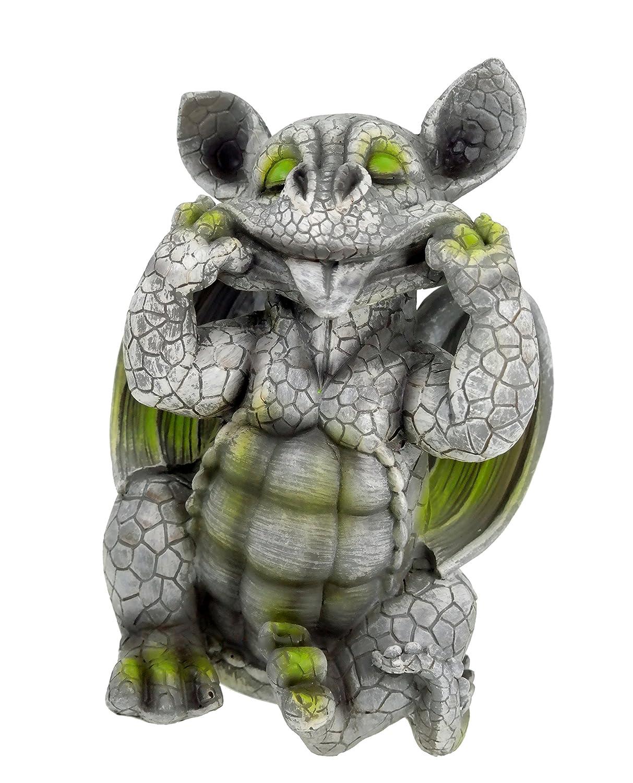 Drachenkind streckt Zunge raus Drache Gargoyle Figur Kremers-Schatzkiste
