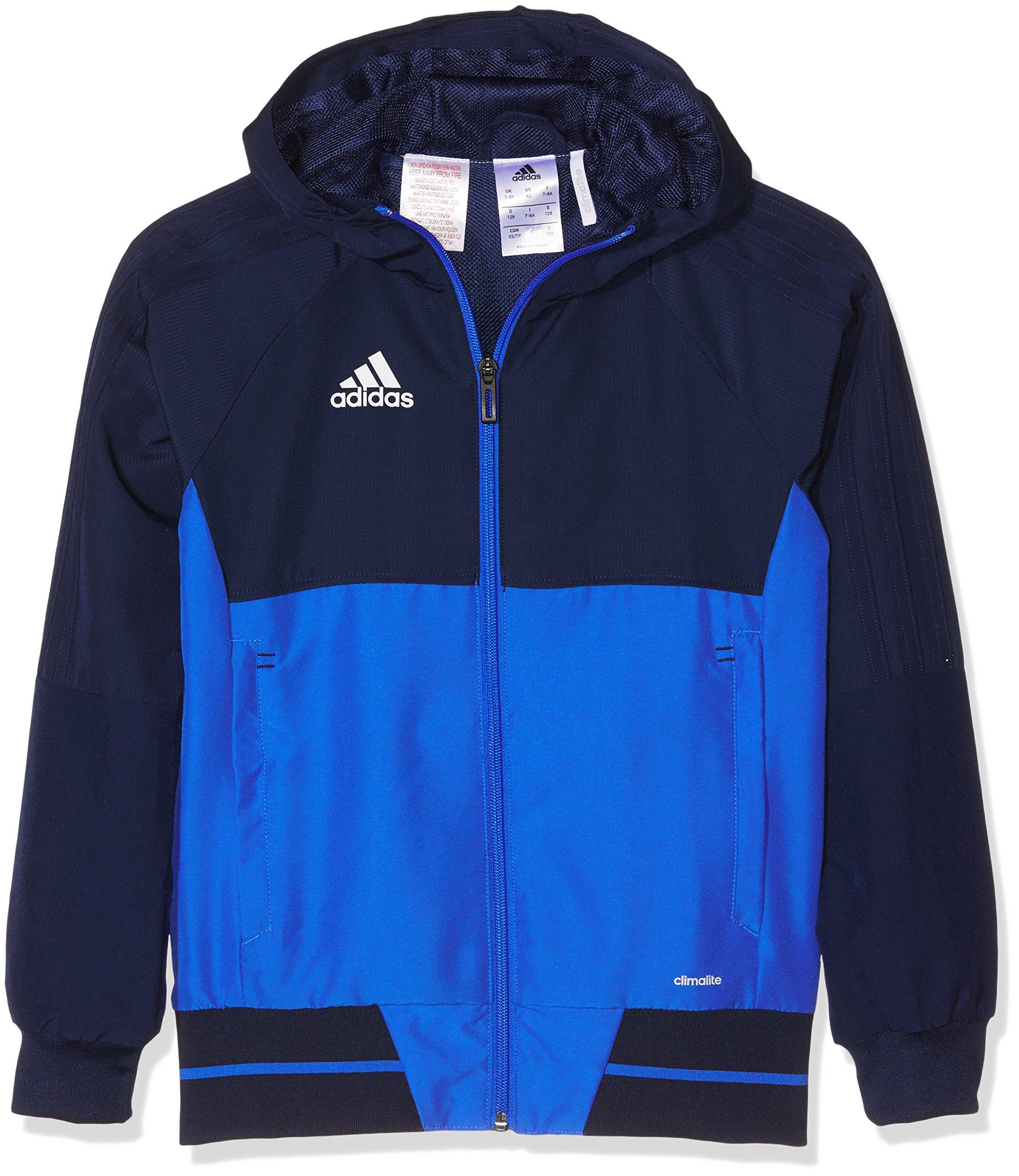 adidas Tiro 17 Plain Presentation Jacket - Youth - Navy/Royal - Age 9-10