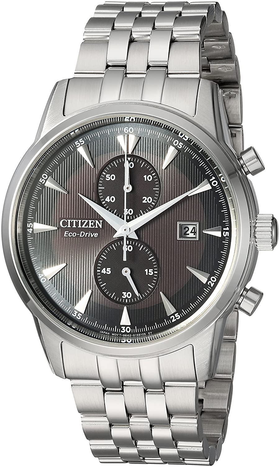 b8d0a2d4863 Amazon.com  Citizen Men s  Eco-Drive  Quartz Stainless Steel Dress Watch