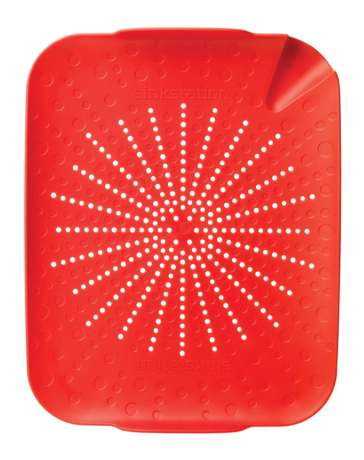 Sinkstation Flat Colander, Red 6002RD