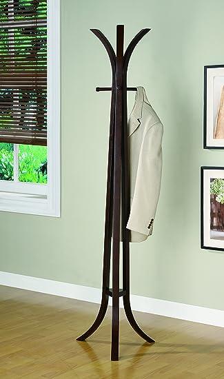Amazon Coaster Contemporary Cappuccino Coat Rack Kitchen Dining Adorable Contemporary Coat Rack Stand