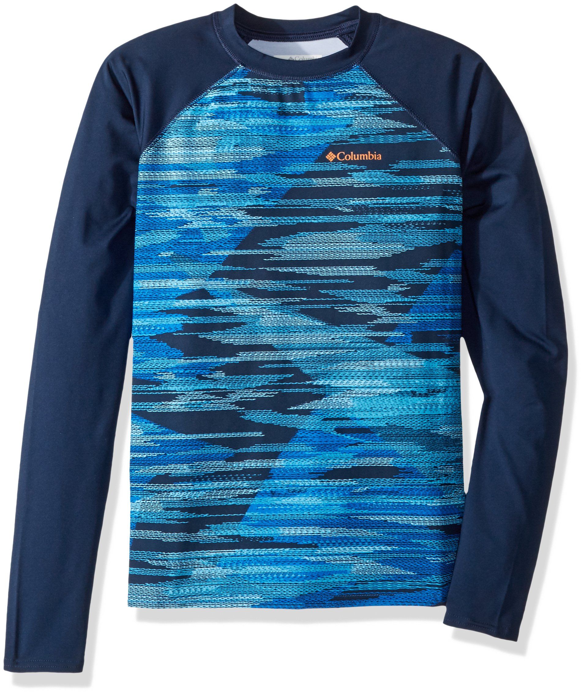 Columbia Kids' Little Mini Breaker Printed Long Sleeve Sunguard Super Blue, S