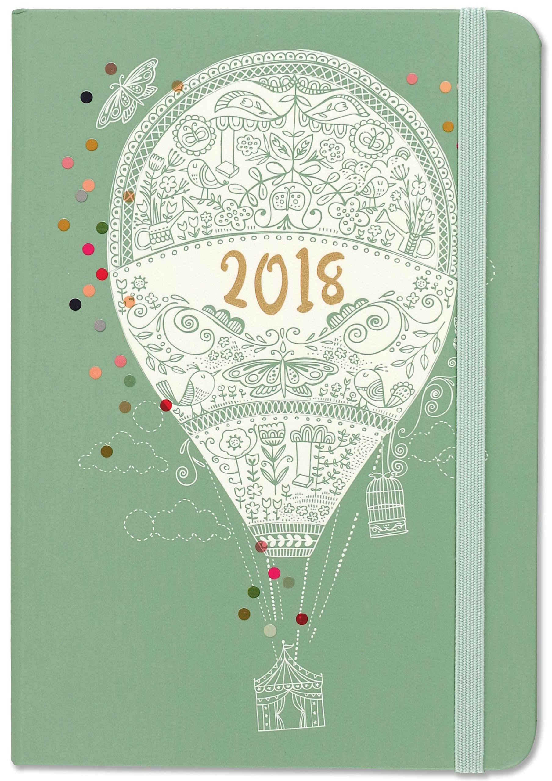 2018 up up and away weekly planner 16 month engagement calendar
