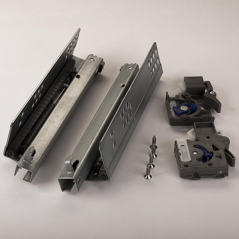 Teilauszug f/ür Holzschublade mit D/ämpfung 1 Paar SO-TECH/® PartSlide Schubladenausz/üge 450 mm