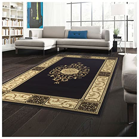 Superior Elegant Medallion Collection 5\' x 8\' Area Rug, Attractive Rug with  Jute Backing, Durable and Beautiful Woven Structure, Floral Medallion Rug  ...