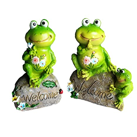 Sumje Frog Family Garden Welcome Statues Sculptures Outdoor Decor Frog Family