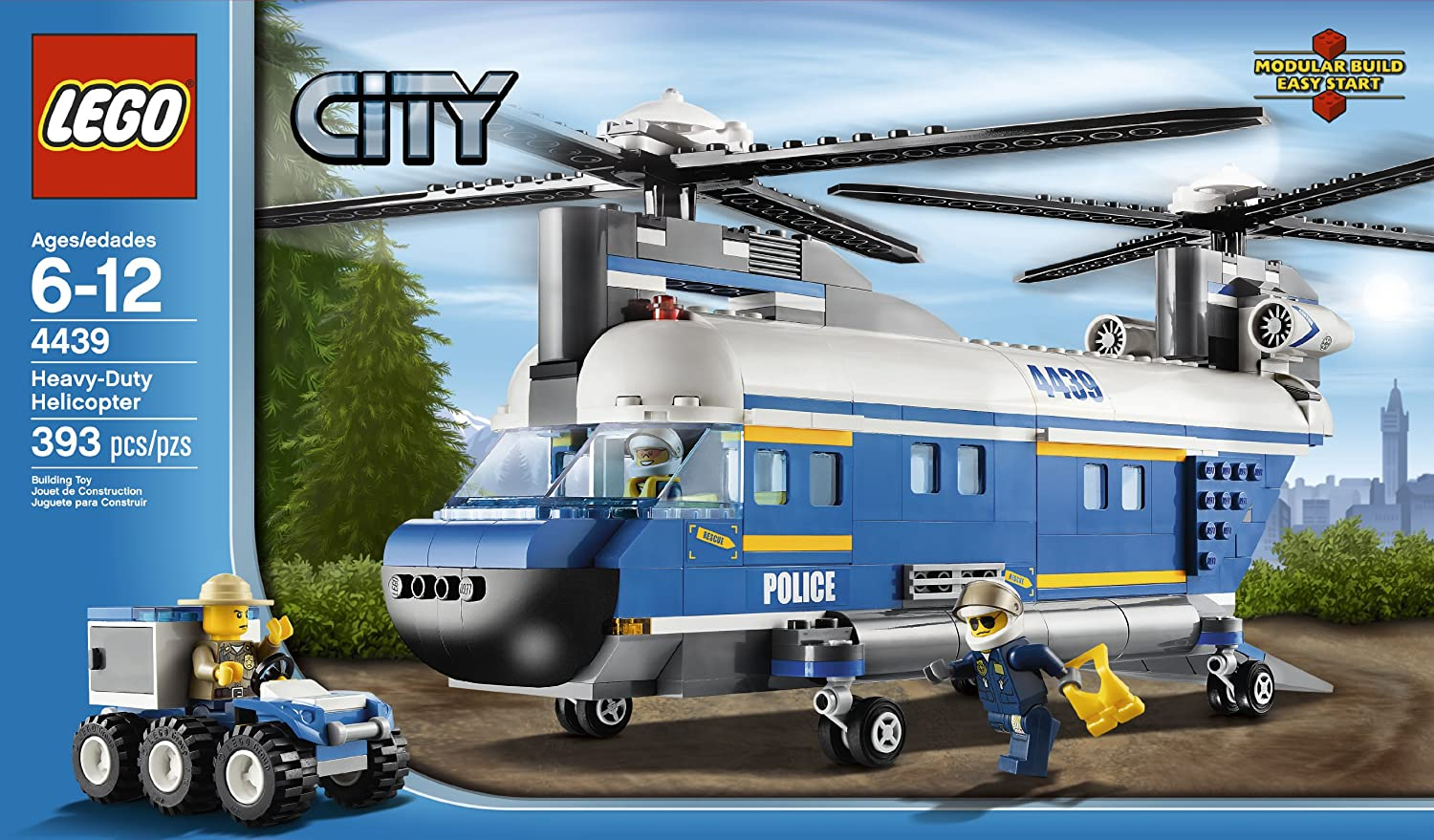 amazoncom lego city police heavy lift helicopter 4439 toys games