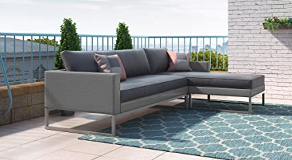 Amazon.com : Elle Decor ODSO10009A Outdoor Sectional Sofa ...