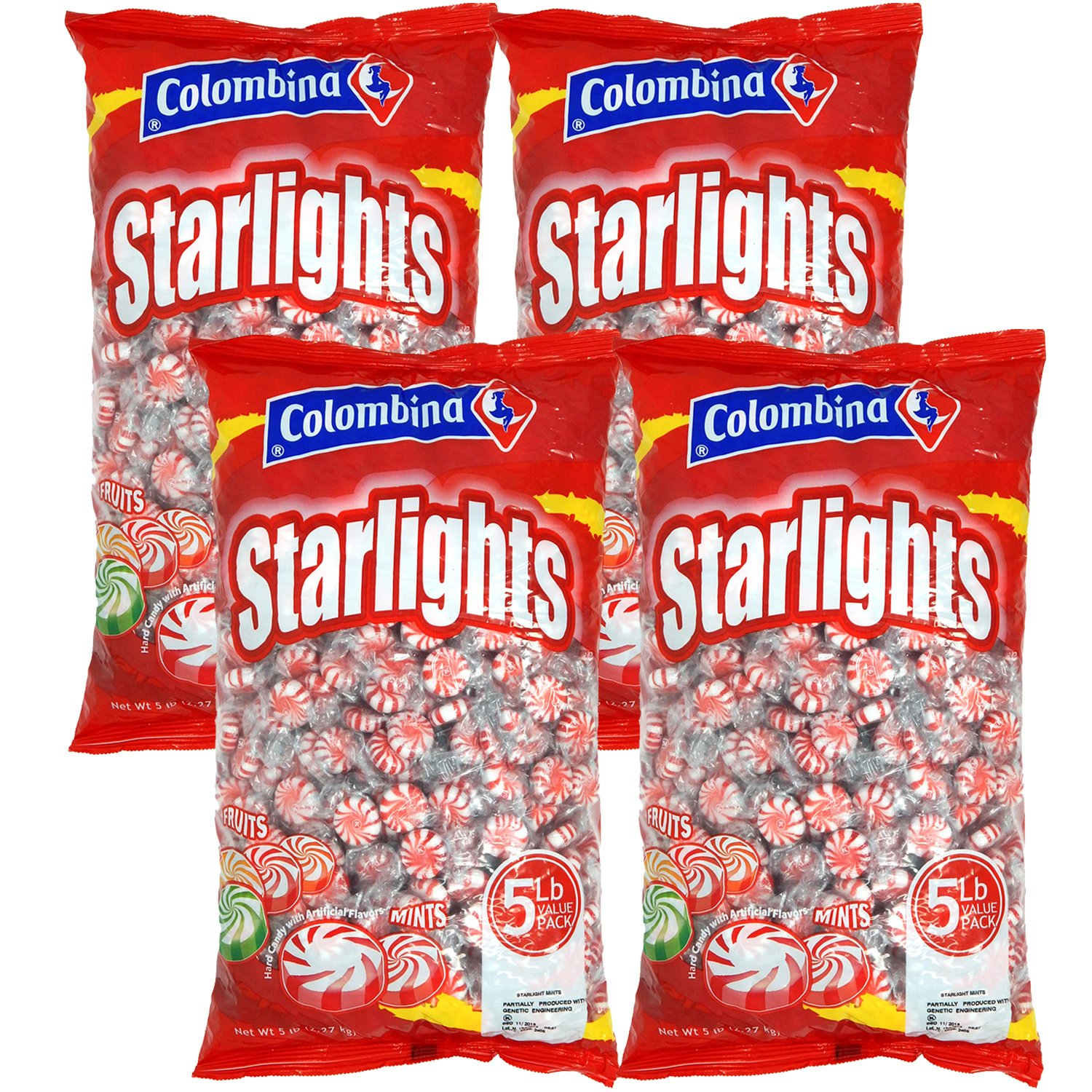 Nosh Pack Peppermint Starlight Mints Individually Wrapped Candy Bulk 20 Pounds - Approx. 1600 Mints