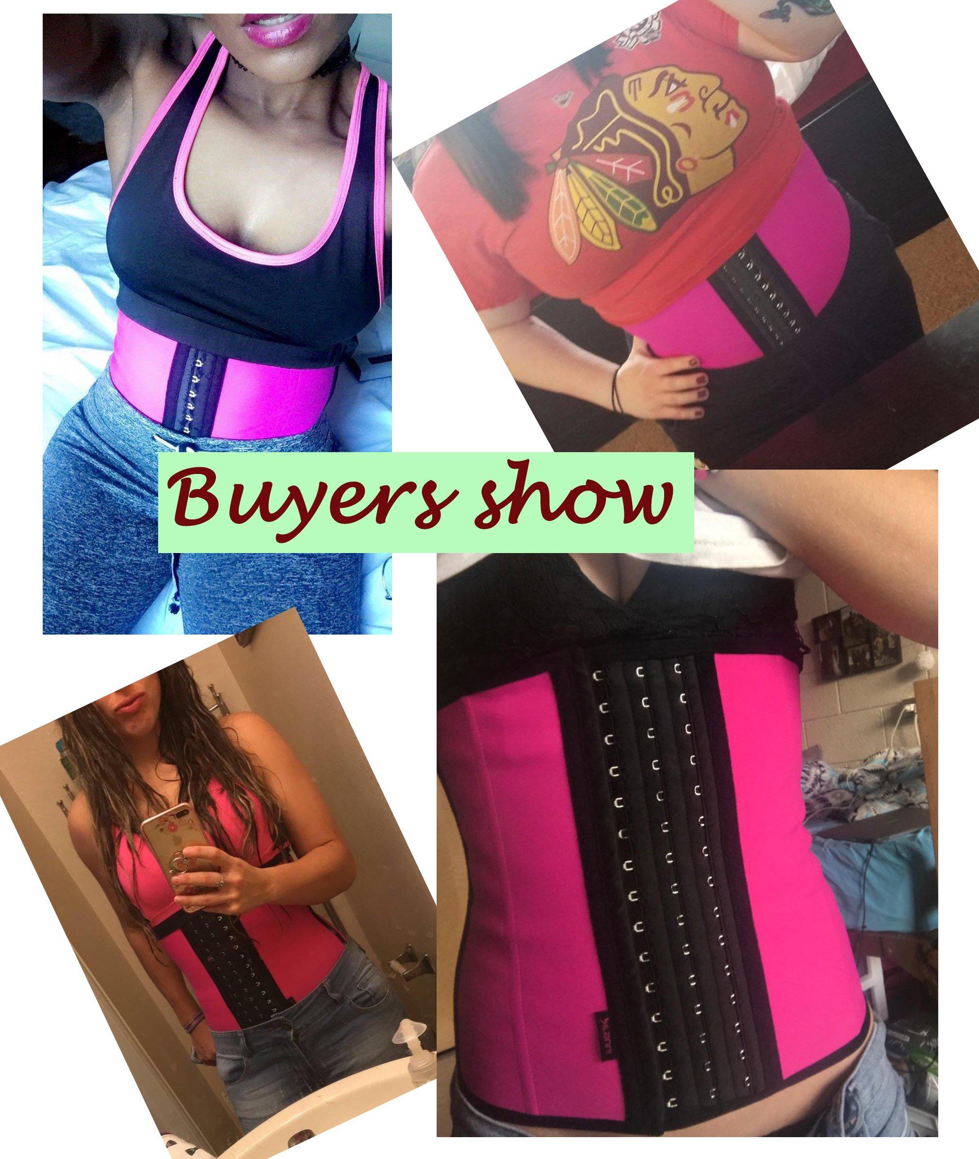 f81a0b135 DILANNI Women s Breathable Firm Control Shapewear with Elastic Corset Waist  Trainer Cincher Belt Pink M - LYSB01ELJEP6A-SPRTSEQIP   Waist Cinchers ...
