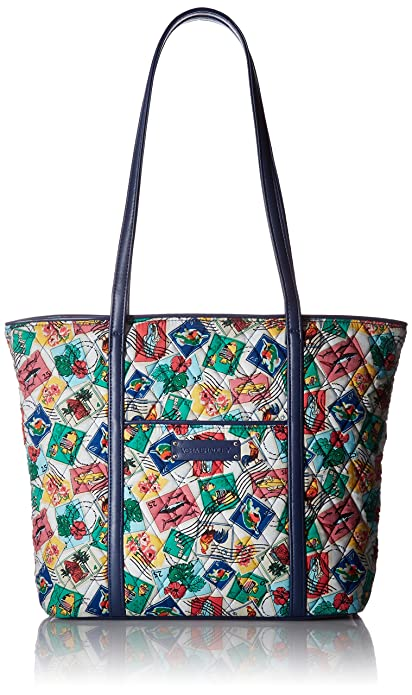 182dd83b491 Image Unavailable. Image not available for. Colour  Vera Bradley Women s Small  Trimmed Vera Shoulder Handbag, Cuban Stamps Navy, One Size