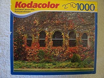 Kodacolor 1000 Piece Puzzle NIP Dalton, MA Flowered building Puzzle by Kodak