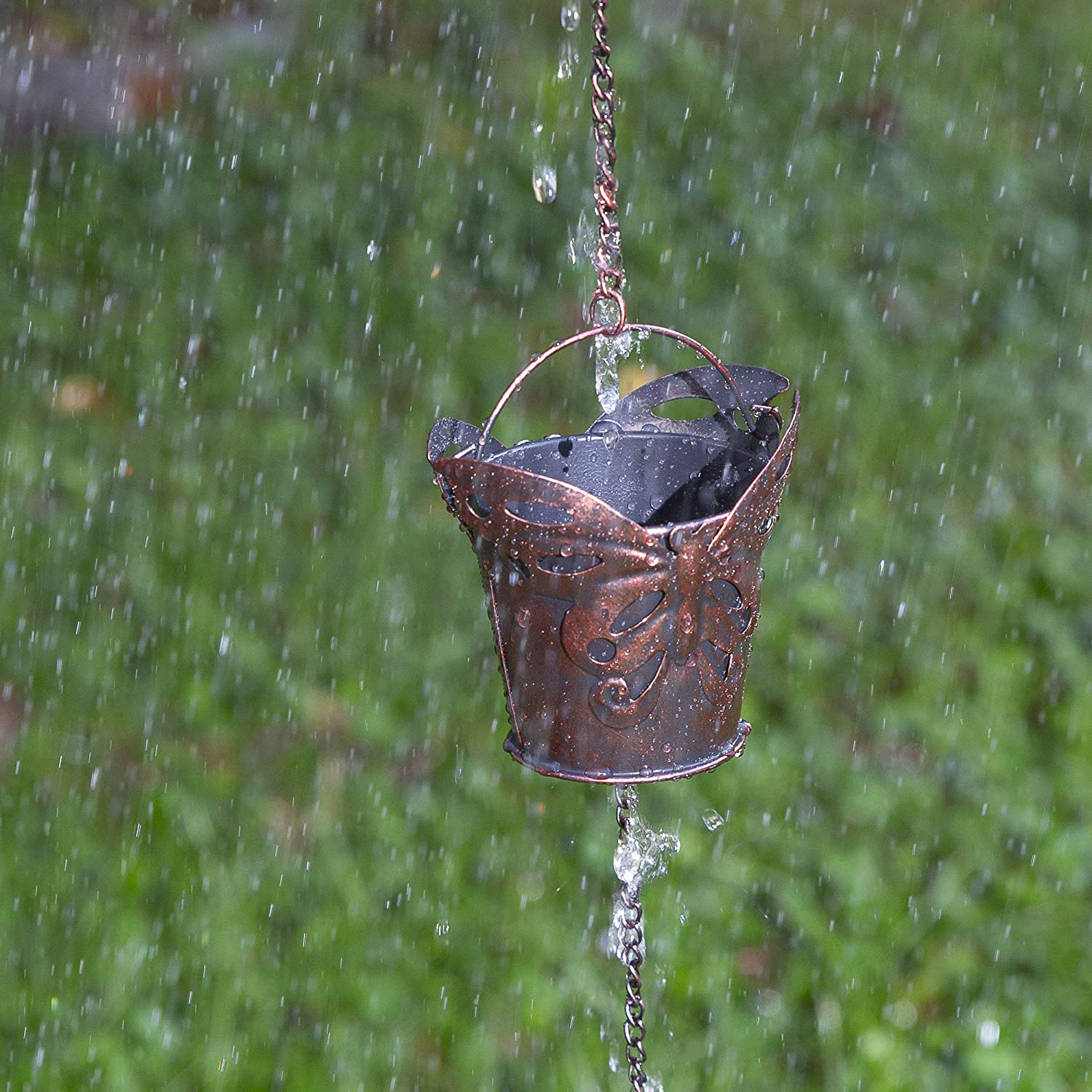 Butterfly Unique Downspout Extension Home D/écor Rainwater Diverter with Rain Collector Cups is an Excellent Gift Idea for Housewarming Birthday Iron Dragonfly Decorative Rain Chain for Gutters