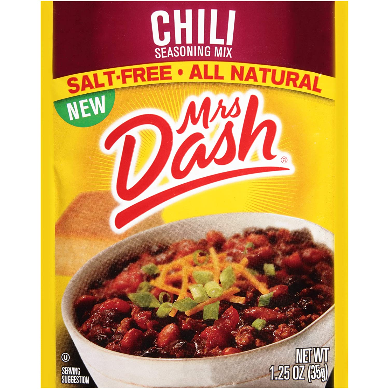Mrs. Dash Seasoning Mix, Chili, 1.25 Ounce (Pack of 12)