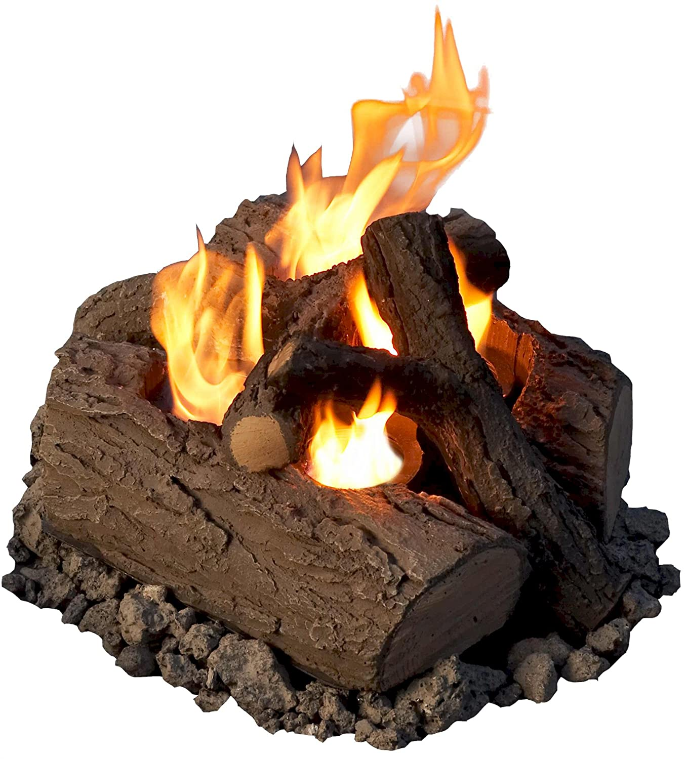Amazon.com : Real Flame 2-Can Outdoor Log Set : Outdoor Decor ...