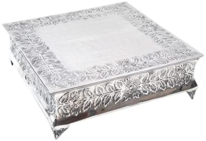 amazon com silver wedding cake stand square 16 x16 a strongly