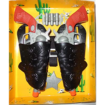 Western Cowboy 2 Cast Clicker-Gun with all accessories 10 pieces play-set: Toys & Games [5Bkhe0305466]