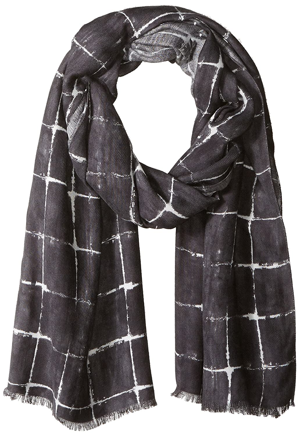 Armani Exchange Men's Abstract Pattern Polyester and Viscose Fabric Scarf Blue Stamp ONE Size 9340847A701