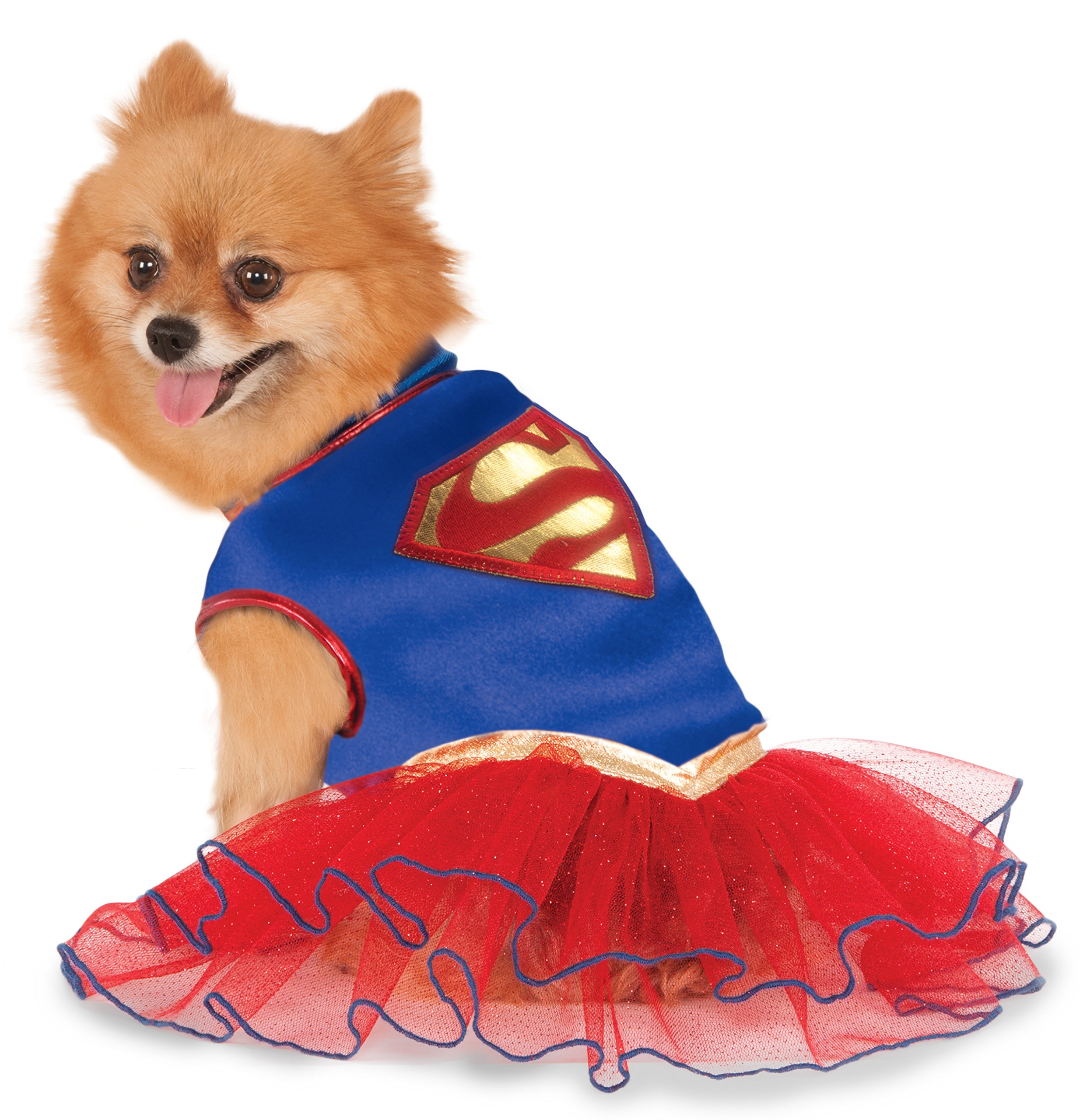 DC Comics Super Girl Pet Tutu Dress, Large