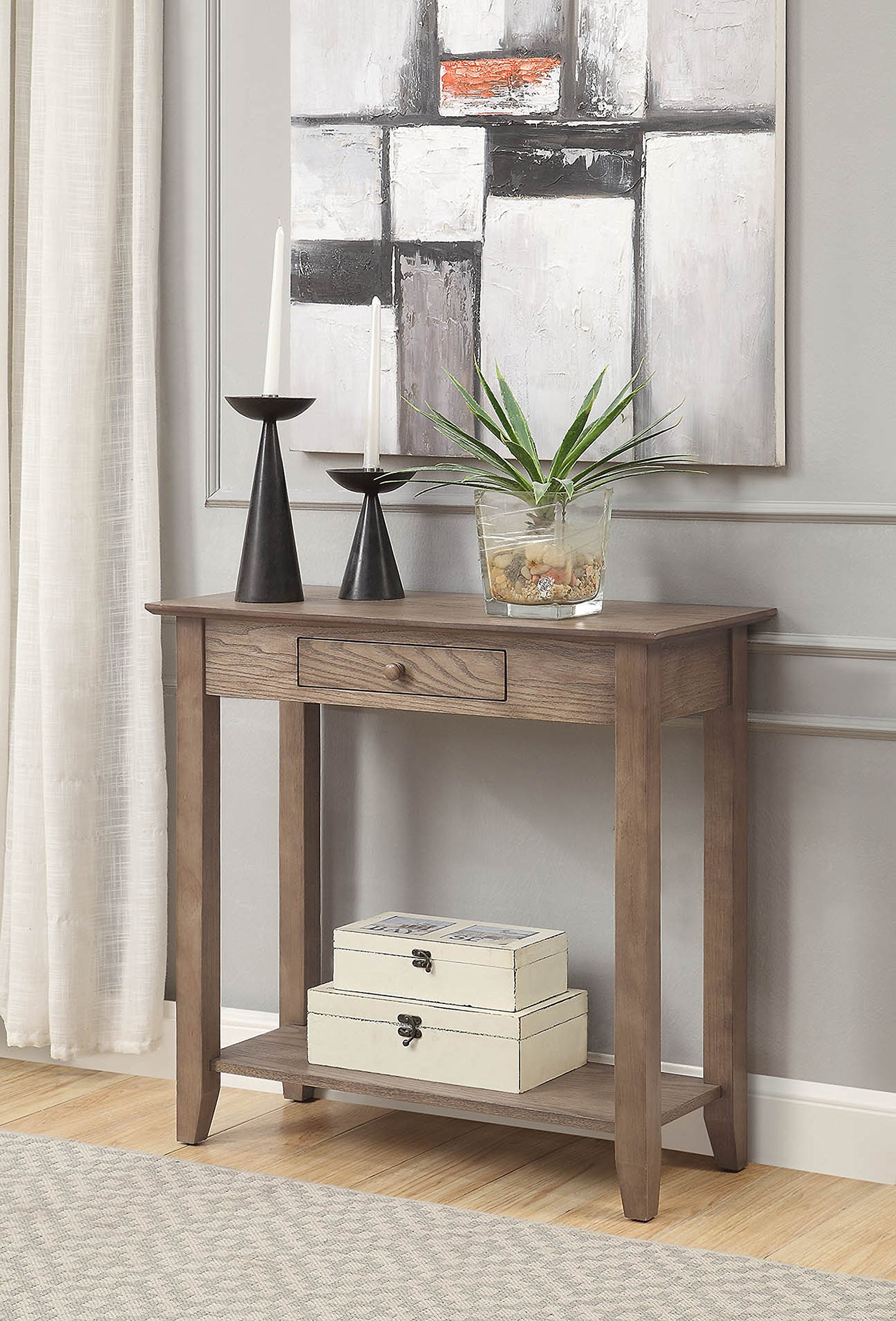 Convenience Concepts 8013081DFTW American Heritage Hall Table, Driftwood by Convenience Concepts