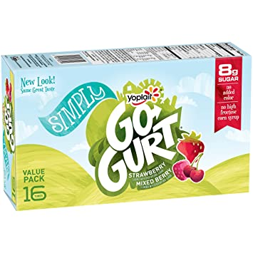Image Unavailable. Image not available for. Color: Yoplait, Go-Gurt Simply ...