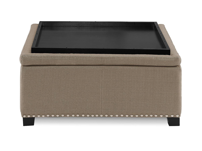 Rolling Ottoman Coffee Table.Urban Home Furniture 35 Square Rolling Flip Top Ottoman Pebble Stone