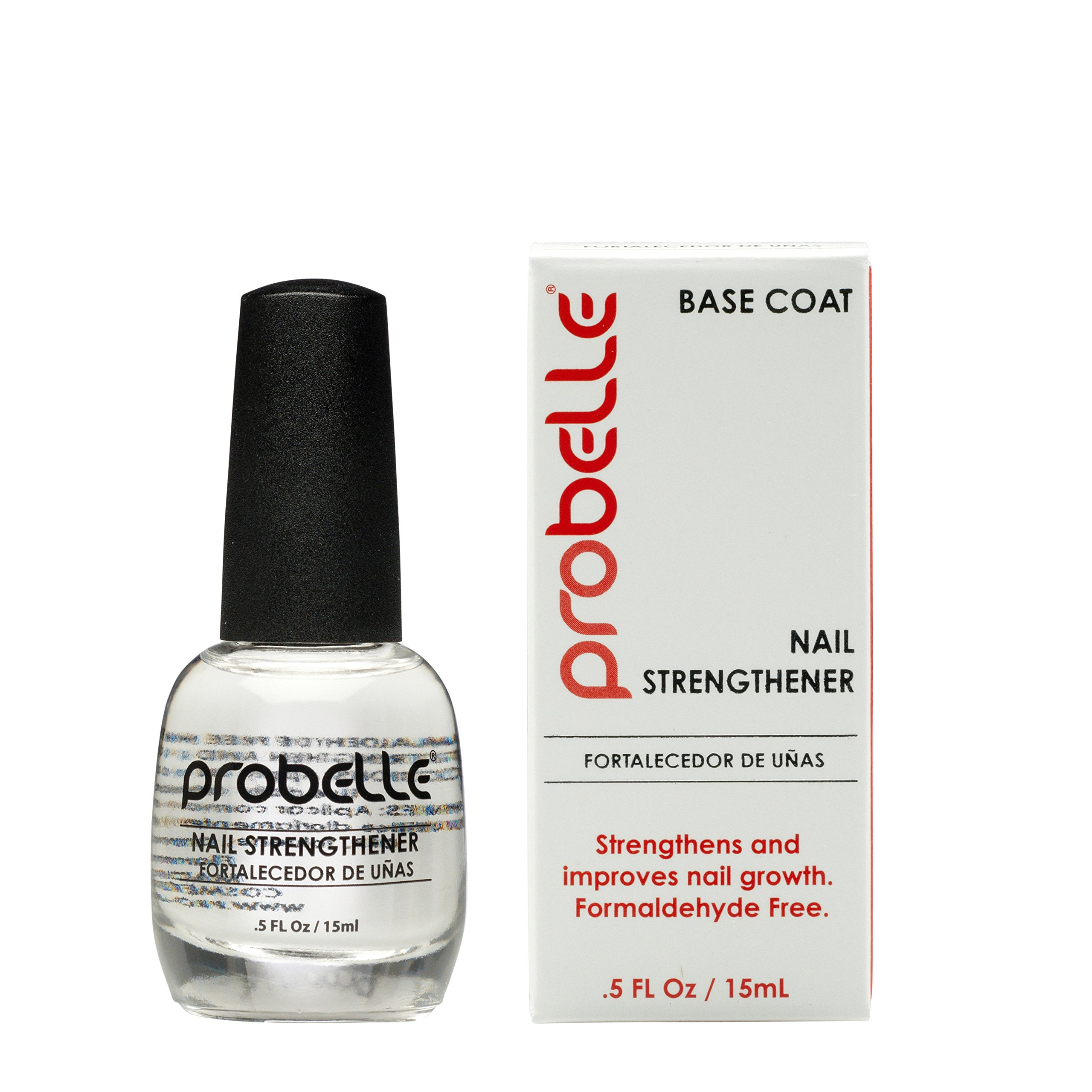 Probelle Nail Strengthener, Strengthens and Improves nail growth. Formaldehyde Free Formula, 0.5 oz