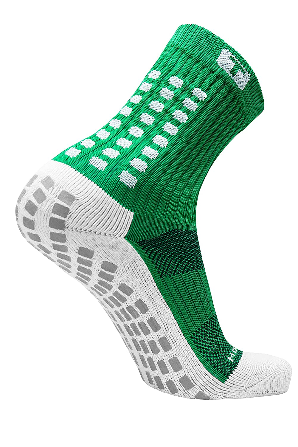 TRUSOX Mid-Calf Crew Cushion Soccer | Football Socks (Pair) with Anti Slip Pads To Reduce Blisters, for Men and Women, Black, Small, Shoe Size US(M ...