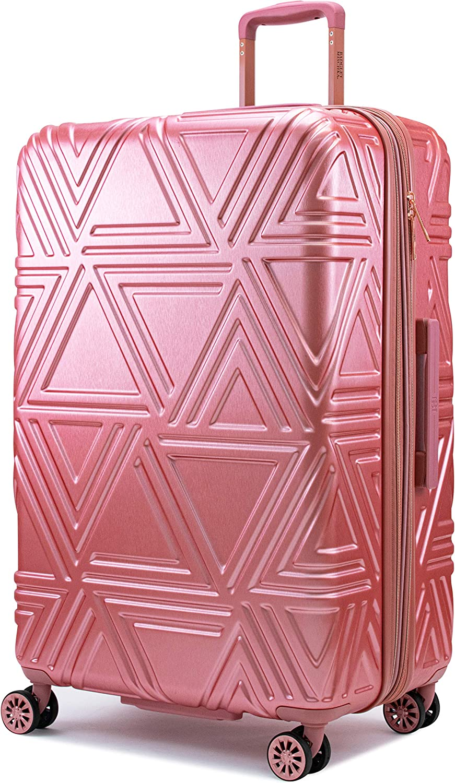 Badgley Mischka Contour Hard Expandable Spinner Suitcase Rose Gold, 29