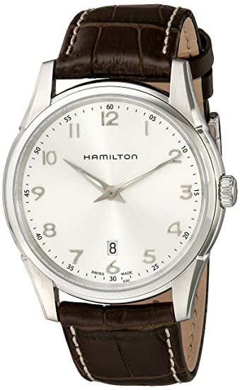 quality design fc00f 7bd58 [ハミルトン] 腕時計 ジャズマスターシンライン クォーツ H38511553 正規輸入品 ブラウン