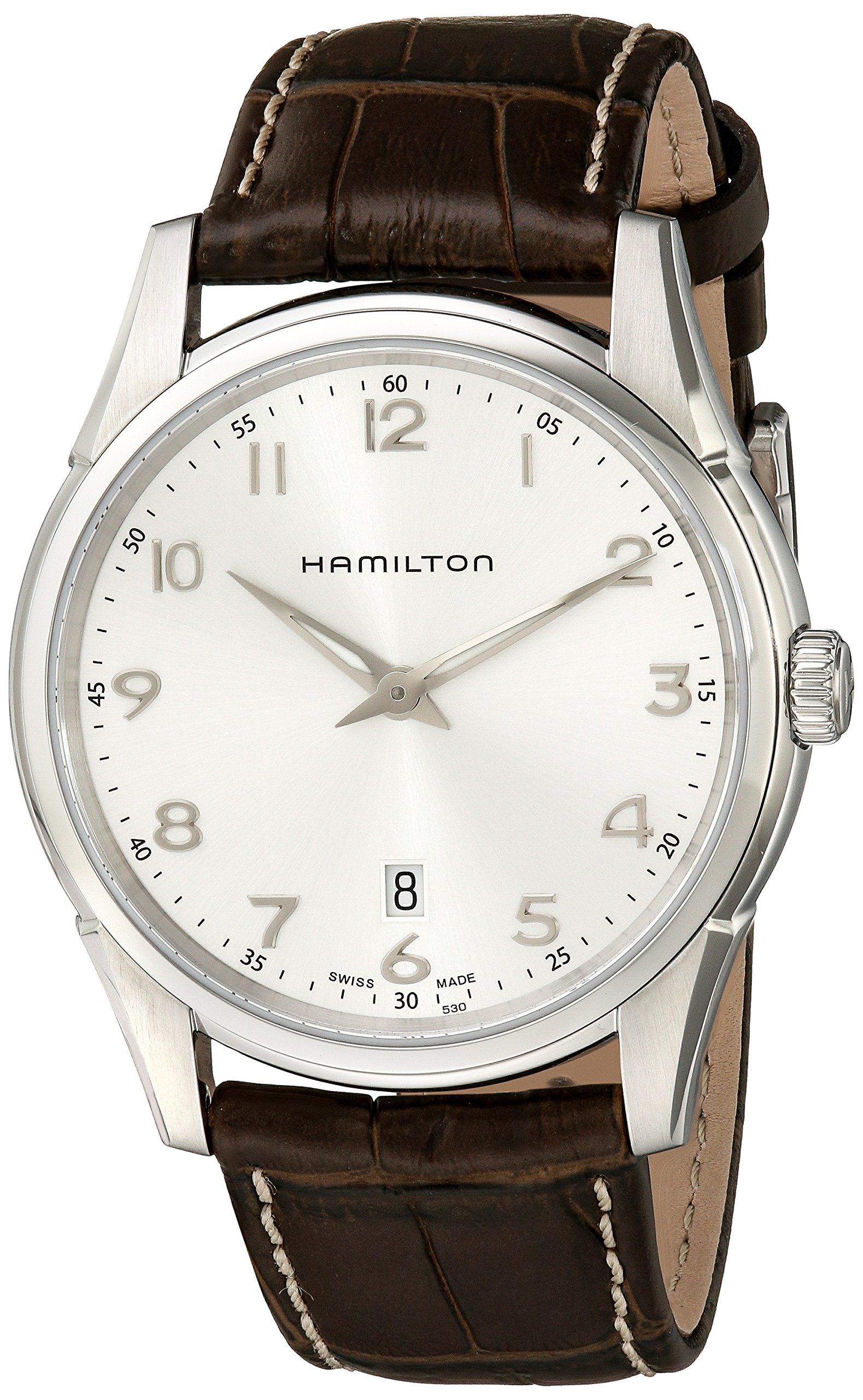 Hamilton Men's H38511553 Jazzmaster Thinline Silver Dial Watch