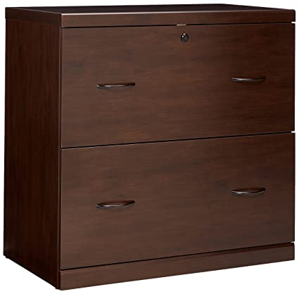 Z Line Designs 2 Drawer Lateral File Espresso Cabinet With Black Accents