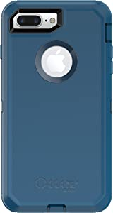 OtterBox Defender Series Case for iPhone 8 Plus & iPhone 7 Plus (ONLY) - Retail Packaging & Alpha Glass Series Screen Protector for iPhone 6 Plus/6s Plus/7 Plus/8 Plus - Retail Packaging - Clear