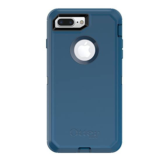 factory price ba846 263e0 OtterBox DEFENDER SERIES Case for iPhone 8 Plus & iPhone 7 Plus (ONLY) -  Retail Packaging - BESPOKE WAY (BLAZER BLUE/STORMY SEAS BLUE)