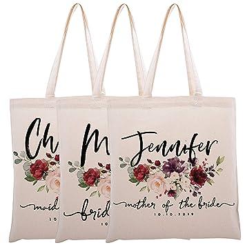 Amazon.com: Bolsa personalizada para damas de honor, boda ...