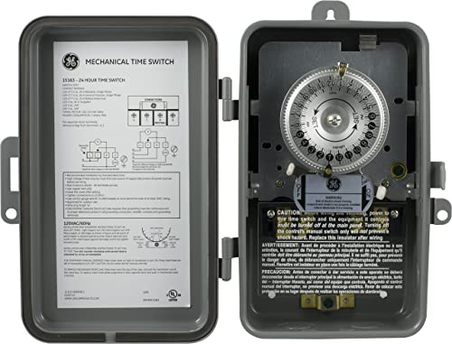 GE-24-Hour-Indoor/-Outdoor-Mechanical-Time-Switch,-40-Amp-120-Vac-5Hp-Box-Timer