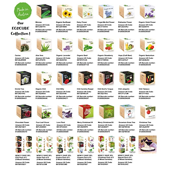 FeelGreen Ecocube - Juego Especial de 5 Paquetes Variados para ...