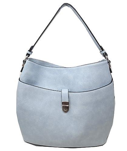 18c063fafcb4 Amazon.com: Simply Noelle Charleston Vegan Faux Leather Classic Hobo ...