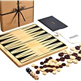 Jaques of London Backgammon and Draughts Set with Backgammon Sets Game - 2 in 1 Reversible Games Board - Ultimate…
