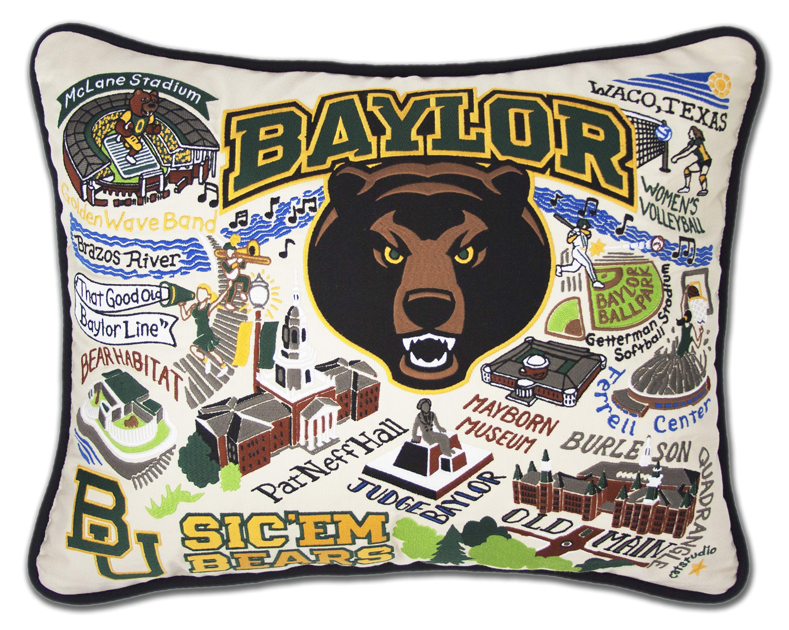 Catstudio- Baylor University Embroidered Throw Pillow - 16'' x 20''