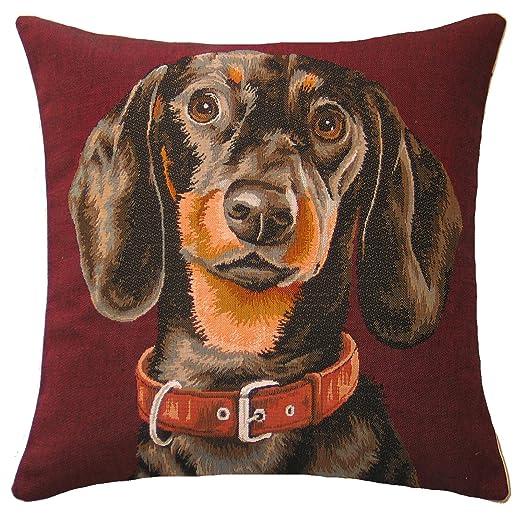 Cojín Tapizado (diseño de perro salchicha: Amazon.es: Hogar