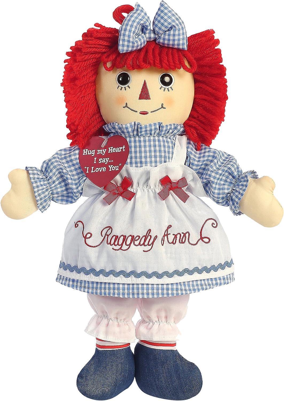 """Aurora World Raggedy Ann Classic Doll 12/"""" MYTODDLER New"""