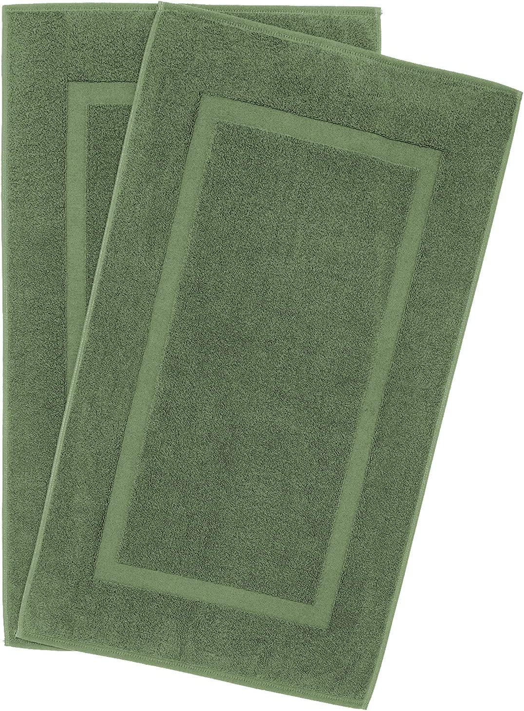 900 GSM Machine Washable 20x34 Inches 2-Pack Banded Bath Mats, Luxury Hotel & Spa Quality, 100% Ring Spun Genuine Cotton, Maximum Softness & Absorbency by United Home Textile, Sage Green: Kitchen & Dining