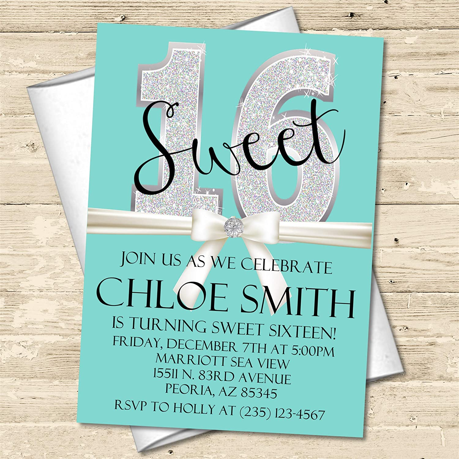 Inspired Sweet 16 Birthday Party Invitations With Envelopes Handmade