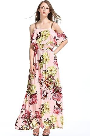 0e90237491a Wonderful Women Casual Vintage Floral Print Long Dresses