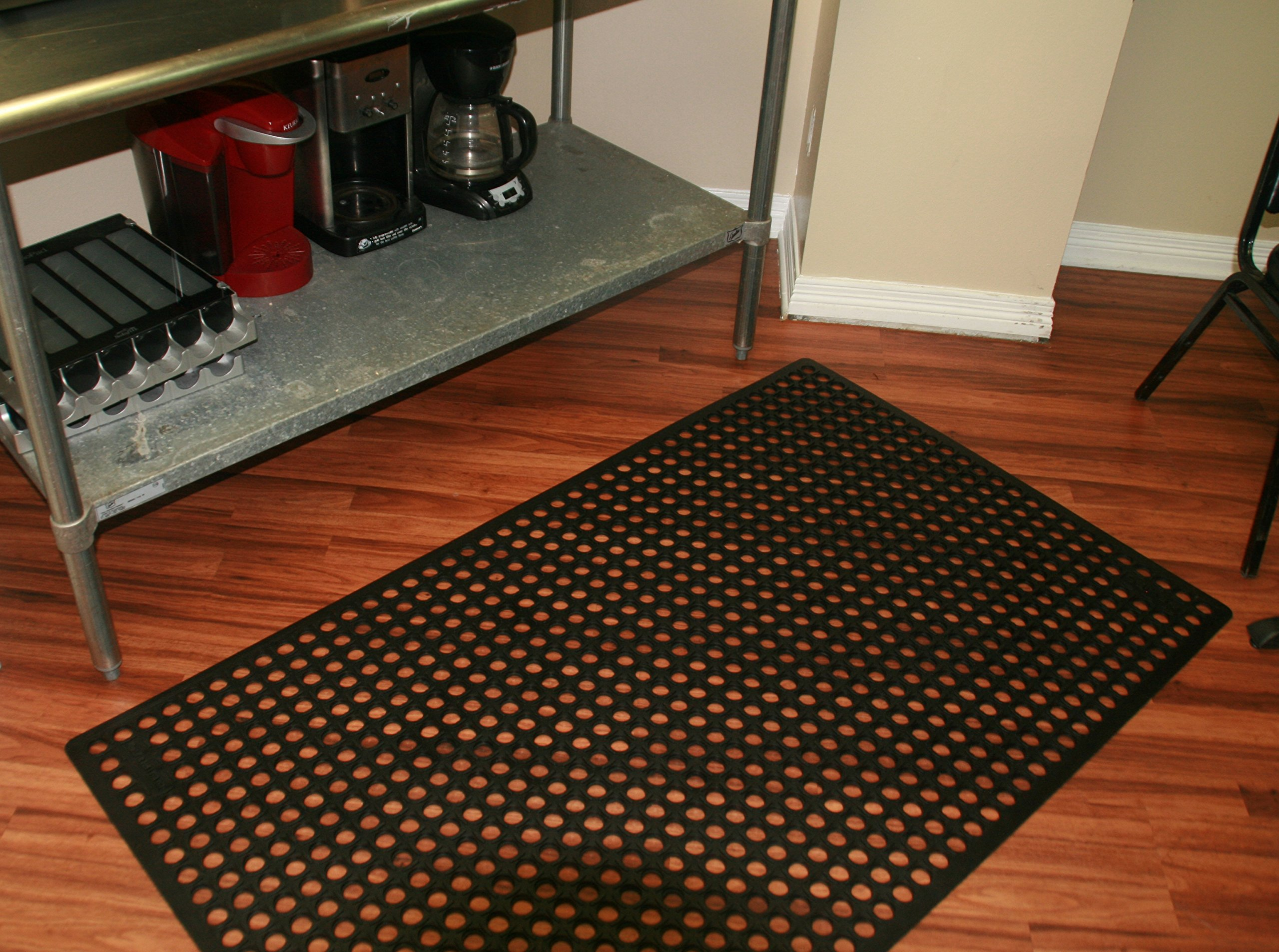 Rhino Mats KCT-3660B K-Series Comfort Tract Anti-fatigue Drain-thru Mat, 3' x 5', Black by Rhino Mats (Image #9)