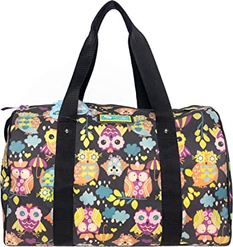 LILY BLOOM Women Multi-color Owl Always Love you Tara Overnight Duffel Bag