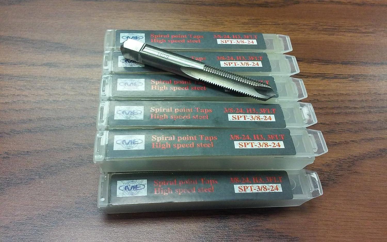 Spiral Point Taps 3//8-24 plug 3flt 10pcs HSS H3--new