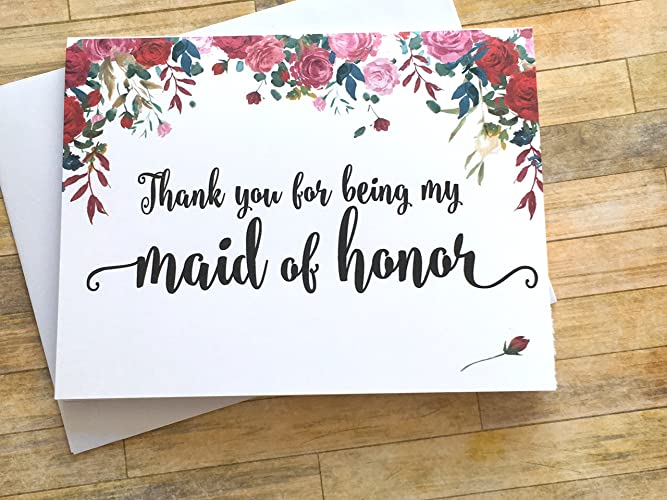 Amazoncom Thank You For Being My Maid Of Honor Roses Wedding