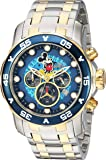 Invicta Men's 'Disney Limited Edition' Quartz Stainless Steel Casual Watch, Color:Two Tone (Model: 23769)